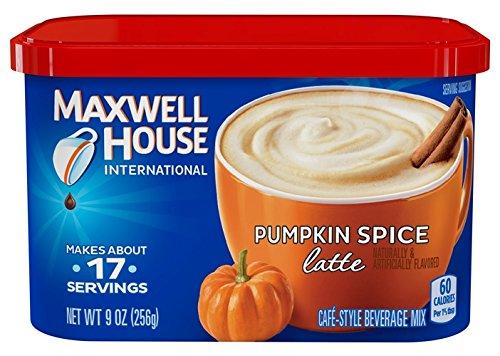 Maxwell House International Latte, Pumpkin Spice, 9.0-Ounce