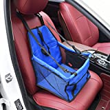 Pet Car Booster Seat Carrier,Portable Foldable Pet Car Seat Cover Carrier with Seat Belt for Dog Cat Puppy Kitty up to 25lbs Sold by Karl Aiken (Blue)