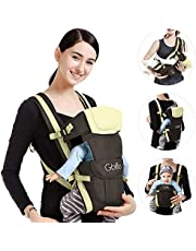 GBlife Ergonomic Baby Carrier 4 Positions Multifunctional for Baby Newborn Small Children with Convenient Pocket Comfortable Adjustable 0-24 Months 16kg (Light Khaki)