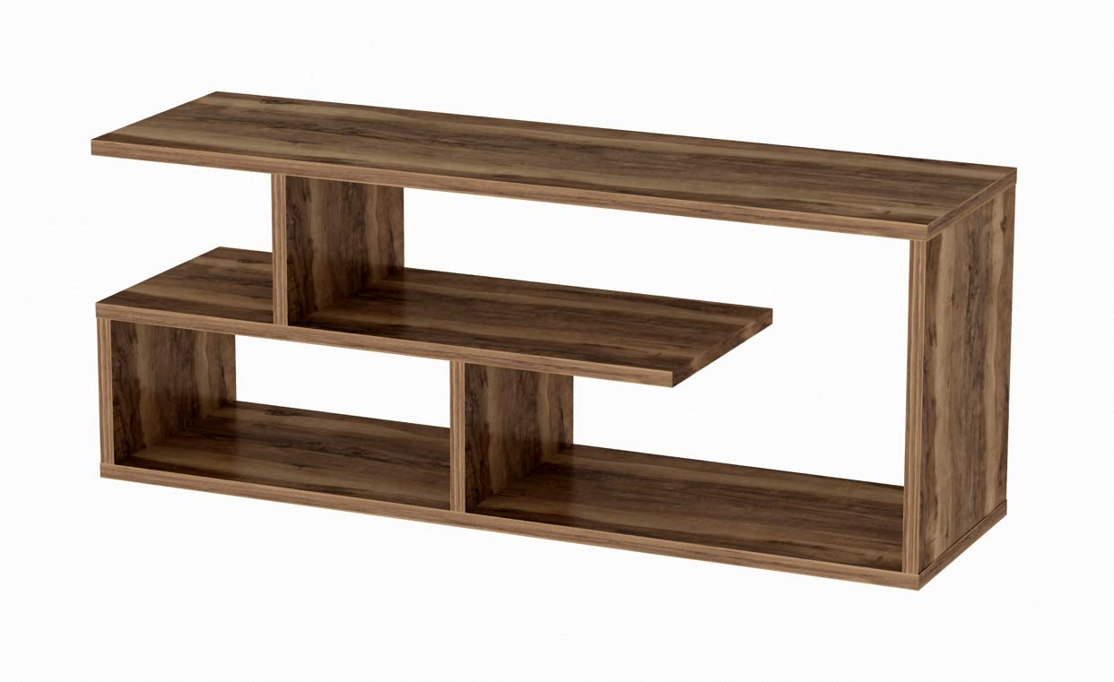 """Line TV Stand (Brown) - Dimensions: L 39"""" x W 11.5"""" x H 15.5"""" High quality veneer that is durable against dents and scratches and gives a much more elegant look. Made with heavy particleboard panels to ensure maximum durability. - tv-stands, living-room-furniture, living-room - 51 IkEi22SL -"""