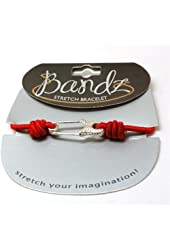 TOC Bandz Nappy Pin Red Elastic 6 Inch Stretch Bracelet