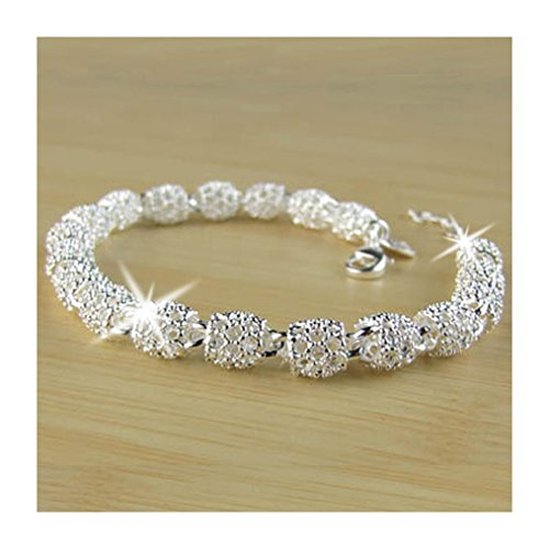 Edtoy 1pcs White Women's Handmade Jewelry Accessories Bronze Silver Plated Bracelet from Edtoy