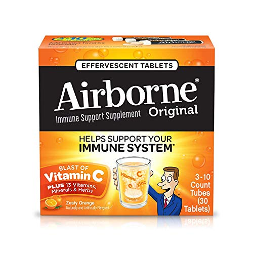 Airborne Zesty Orange Effervescent Tablets product image
