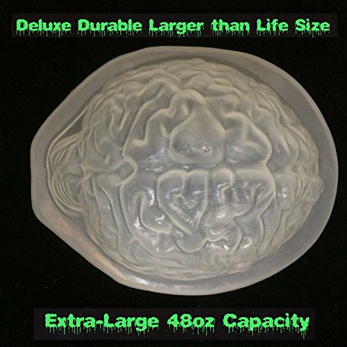 DIY Life Size BRAIN DESSERT JELLO GELATIN MOLD Zombie Food Halloween Horror Prop]()