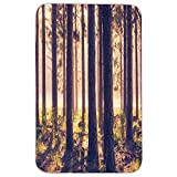 sunbeam 180w - Rectangular Area Rug Mat Rug,Forest,Weak Afternoon Sunbeams Autumn Forest With Leaves and Branches Image,Sand Brown Green and Brown,Home Decor Mat with Non Slip Backing