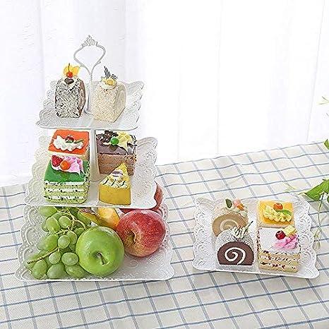 Amazon.com: 3 niveles bandeja de frutas platos postre ...