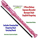Performance Plus RECB-P Deluxe Soprano Recorder in Pink Pearl