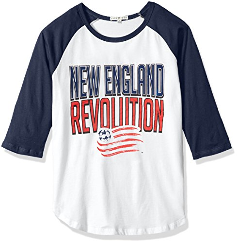 - Junk Food MLS New England Revolution Women's 3/4 Raglan Tee, Small, Ew/Non