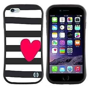 "Pulsar iFace Series Tpu silicona Carcasa Funda Case para Apple (4.7 inches!!!) iPhone 6 Plus / 6S Plus ( 5.5 ) , Prisión blancos negros púrpuras Líneas"""
