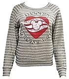 Women's Junior Disney Cruise Line Stripe Sweatshirt (L)