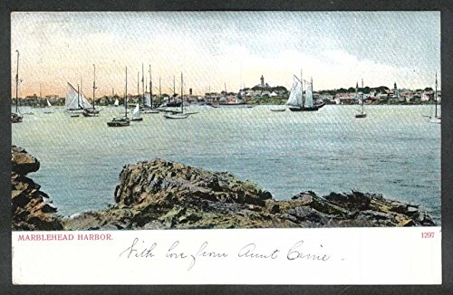 Marblehead Harbor MA undivided back postcard 1906 by The Jumping Frog