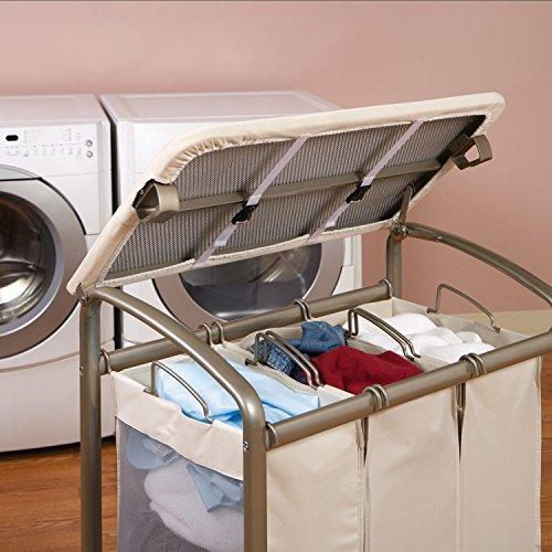 Amazon.com: Seville Classics 3 Bag Folding Laundry Sorter: Home U0026 Kitchen