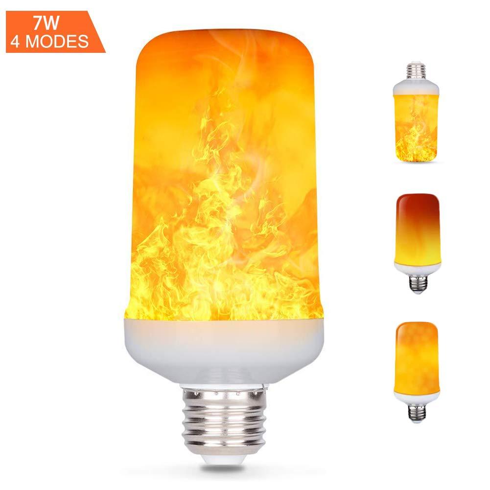 E27 LED-Flamme Effekt Fire Glühlampen, Creative Leuchten mit flackerndem Emulation, Vintage Atmosphäre Deko, Simuliert Gas Hurricane Laterne, warm weiß, 7Watt E27