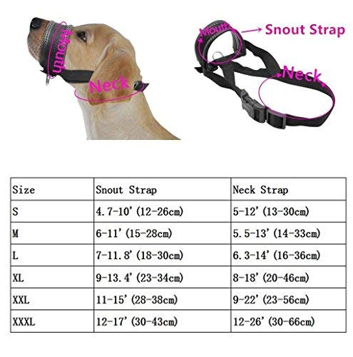 Lepark Nylon Dog Muzzle for Large Dogs Prevent from Biting,Barking and Chewing,Adjustable Loop(XL/New)