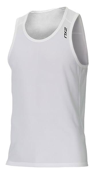 7f699bcb7100 2XU Herren Active Run Singlet T-Shirts, Wht Blk, XS  Amazon.de ...