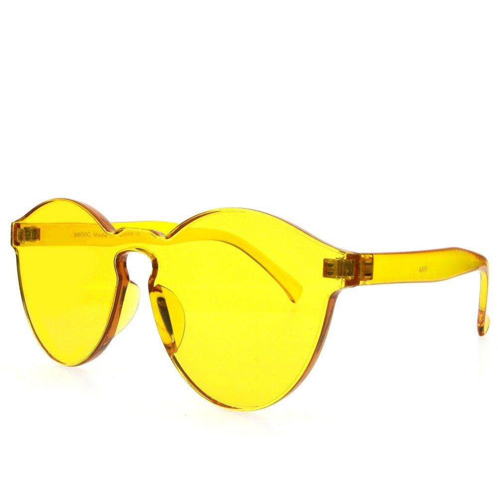 Westeng Gafas de Sol Hombre Mujer Color Caramelo Moda Polarizadas Prevención UV size 5.4*5.8*14.5cm (amarillo)