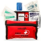 First AID KIT - Stay Safe with This Survival & Medical Essentials for Emergency Situations at Home, Office, Car, Hiking, Hunting, Camping, Travel & Schools Trips | Small & Convenient Mini Aid Kits