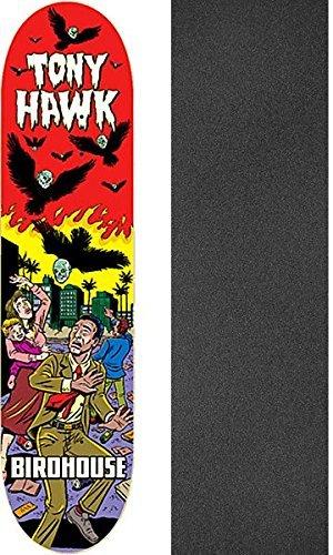 有彩色の吸い込むパスポートBirdhouse Skateboards Tony Hawk mexipulpスケートボードデッキ – 8.12 X 32 cmでJessup Griptape – 2アイテムのバンドル
