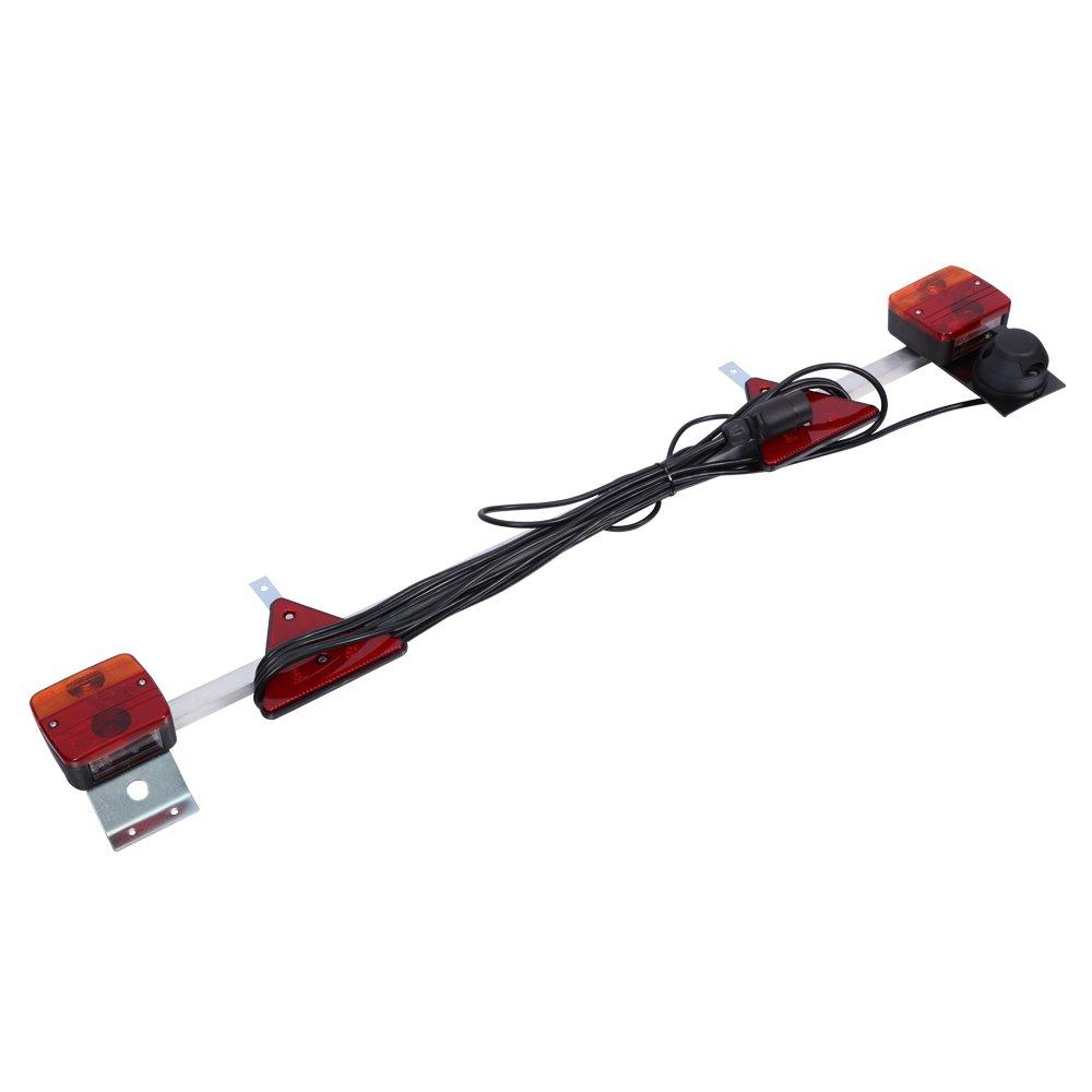 Kit de luces traseras para remolque 5 funciones 12 V LED combinaci/ón de luces traseras para remolque cami/ón barco