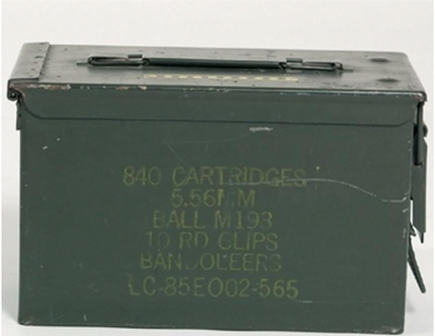 Caja de munición US, tamaño mediano, color verde militar: Amazon ...