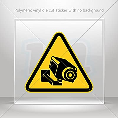 Decal Camera Cctv Video Surveillance Sign Tablet Laptop Waterproof Sports Bike X4672 by oneclickstickers