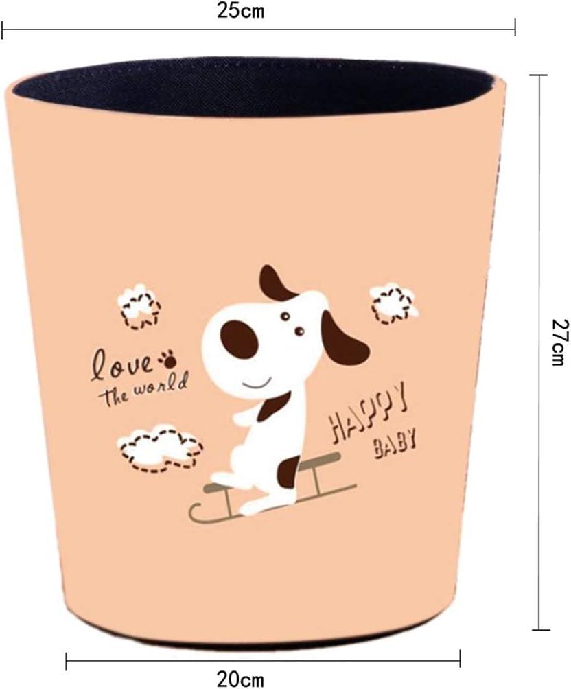 Kinder M/ülleimer mit Motiv Tier Hund Touchmark Papierkorb rund Leder Abfalleimer perfekt f/ür Das Kinderzimmer 10 Liter