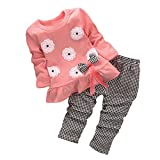 Girls Clothing Best Deals - BomDeals Adorable Cute Toddler Baby Girl Clothing 2pcs Top&pants Winter Outfits (Age(3T), Flower/Pink)