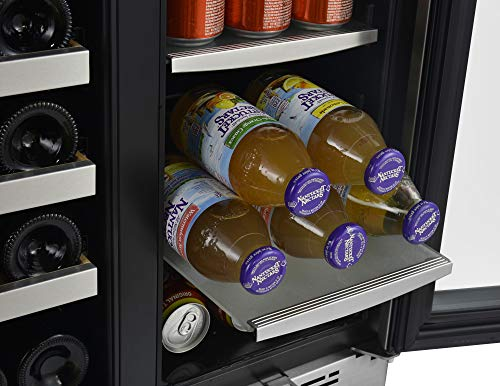 Avallon AWBC241GGFD 24 Inch Wide 21 Bottle and 60 Can Capacity Built-In Wine and Beverage Cooler with French Doors by Avallon (Image #3)