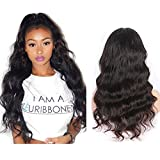 H&N Hair Brazilian Virgin Hair Lace Front Wigs Body Wave Human Hair Wigs For Black Women 130 % Density with Baby Hair Natural Color (22inch)