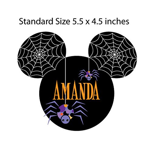 Halloween Spiders Mouse Head Magnet for Disney Cruise -