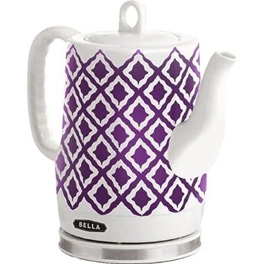 BELLA 14077 Cordless Ceramic Electric Kettle, 1.2L, Purple IKAT