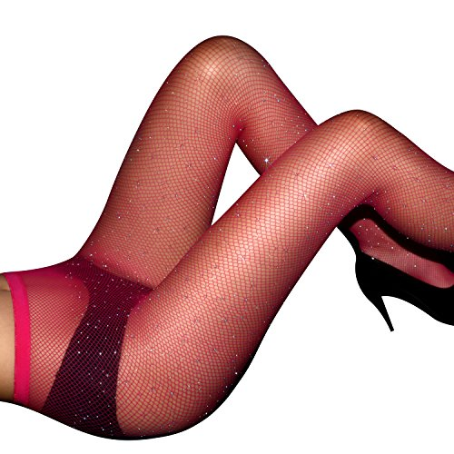 Women's Hollow Out Sparkle Rhinestone Fishnet Pantyhose Elastic Tights Sexy Diamond Stocking Sexy And Hot Net