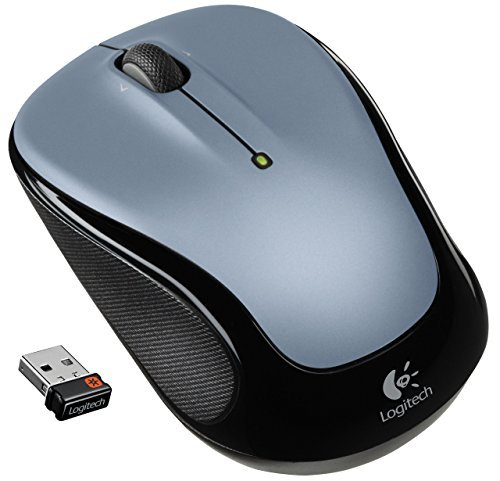 Logitech Wireless Mouse M325 with Designed-For-Web Scrolling - Light Silver (Certified Refurbished) by Logitech