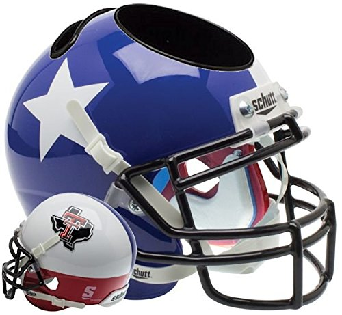 - Schutt NCAA Texas Tech Red Raiders Unisex NCAA Texas Tech Red Raiders Football Helmet Desk Caddyncaa Texas Tech Red Raiders Football Helmet Desk Caddy, Texas Flag Alt, N