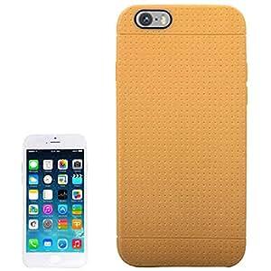 Smart Protectors. Premium TPU Softcase Honeycomb/Cover/Funda/Carcasa para Apple iPhone 6& 6S en café marrón coffee