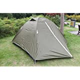 Hasika 3 Person Double Layer Tent with Carry Bag - Windproof, Waterproof and UV-proof Family Tent, 7 x 7-Feet Tent