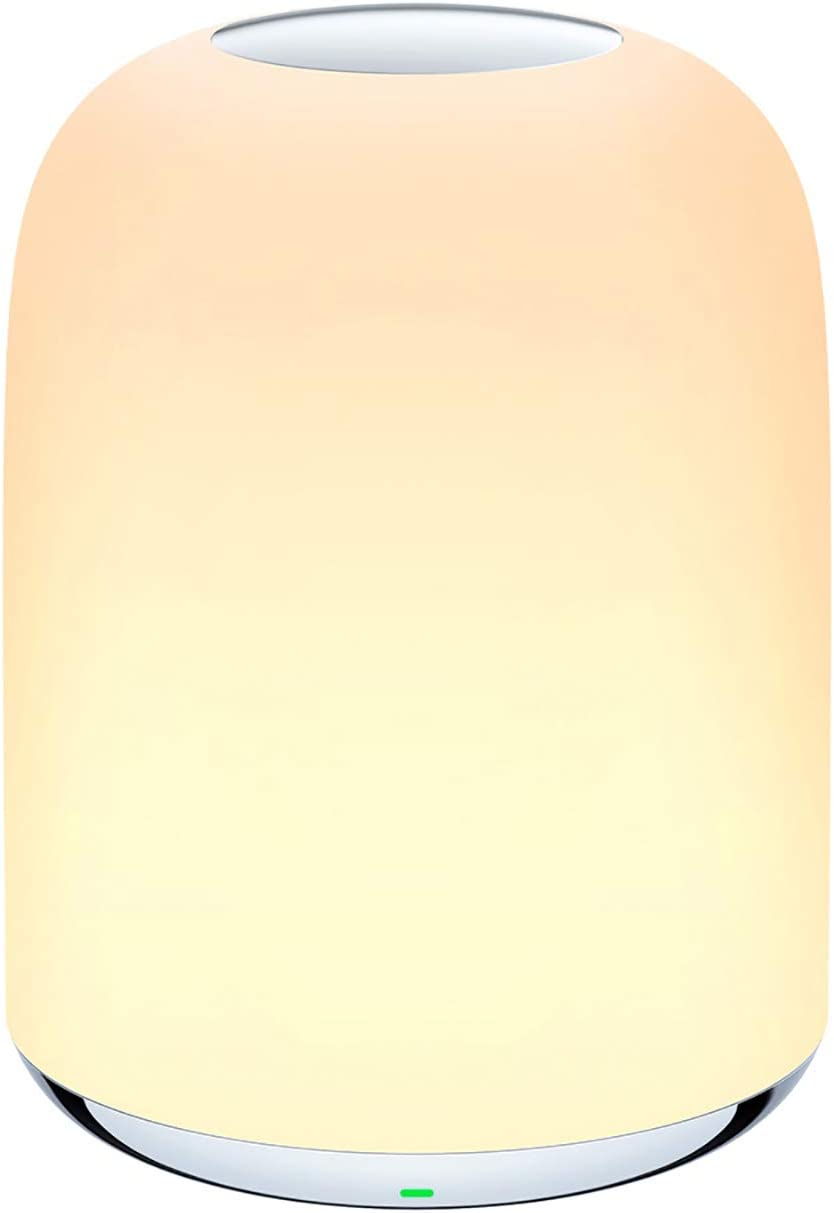Lampada da comodino, lampada da tavolo, luce notturna con batteria ricaricabile luce bianca calda dimmerabile