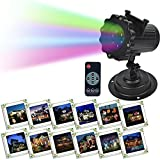 LOHOME LED Projector Lights - 16 Switchable Pattern Lens Rotating Christmas Projection Lights Waterproof Projector Indoor and Outdoor Garden Path Courtyard Party Easter Festival Use