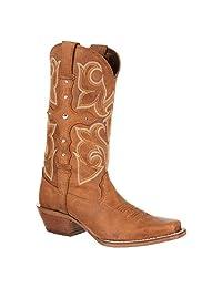 "Durango Western Boots Womens 12"" Crush Cross Strap Brown DRD0090"