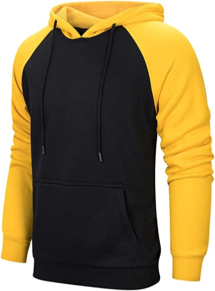 926e3ca2a TOLOER Mens Hoodies Pullover - Contrast Color Casual Hoodie for Men - Sports  Outwear Sweatshirts Black