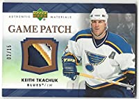 Keith Tkachuk 2007-08 Upper Deck Series 1 Game Patch /15 UD 07/08 Blues j-kt
