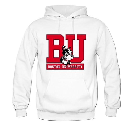 Amazon Com Boston University Mens Hoody Sweatshirt M White Clothing