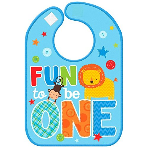 - Amscan One Wild Boy Vinyl Birthday Baby Bib