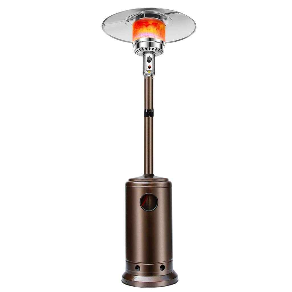 XLOO Commercial Propane Outdoor Heater, Table Top Patio Heater,Propane Standing LP Gas Steel, Steel Plate, Thickened Base, with Safety Protection by XLOO