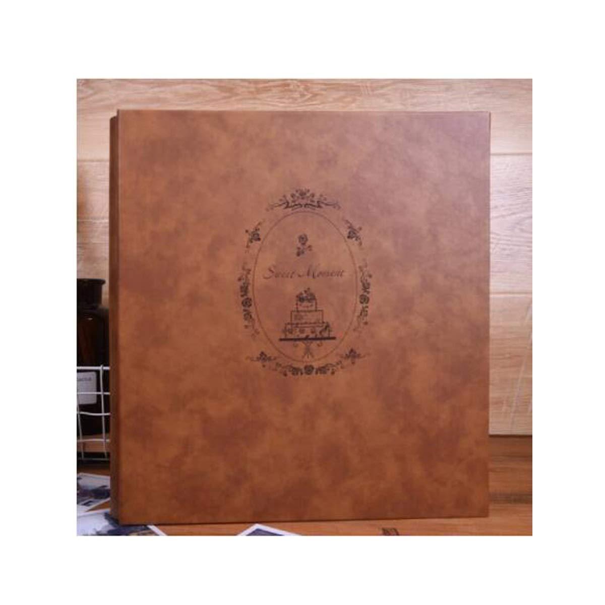 HXSD Album, Hand Suede Retro Large Capacity 6 Inch Insert Type Insert Bag Plastic Can Put 4R Family Album Album Album Book (Color : B) by HXSD