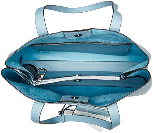 Mujer Y Hobo Guess De Shoppers Hombro Bolsos Bags sky Azul CZpqWvw