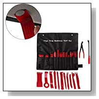iLooper Auto Upholstery Tools, 13 Pieces Car Trim Removal and Moulding Set With Clip Pliers and Fastener Remover Red