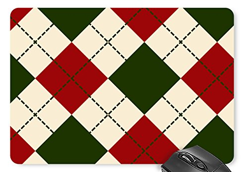 Combo Bait Blocks (Mouse Mat Christmas Plaid Print Mouse Pad 11.8 X 9.8 Inch)