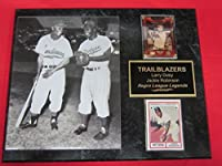 Larry Doby Jackie Robinson 2 Card Collector Plaque w/8x10 VINTAGE Photo