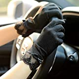 Loe Thin Women's Sun Protection Gloves for Summer Driving, with Elastic Non-Slip,The Gloves are Medium in Size and Extremely Flexible, Suitable for Most People,Elegant and Stylish, Non-Slip Driving